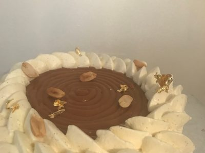 entremets vanille snickers